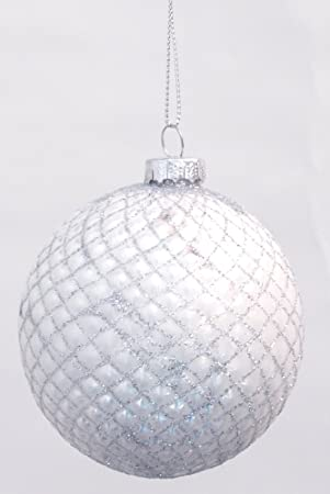 Weihnachtsglaskugeln Weiss 6 Stuck O 8cm Glaskugeln Christbaumschmuck