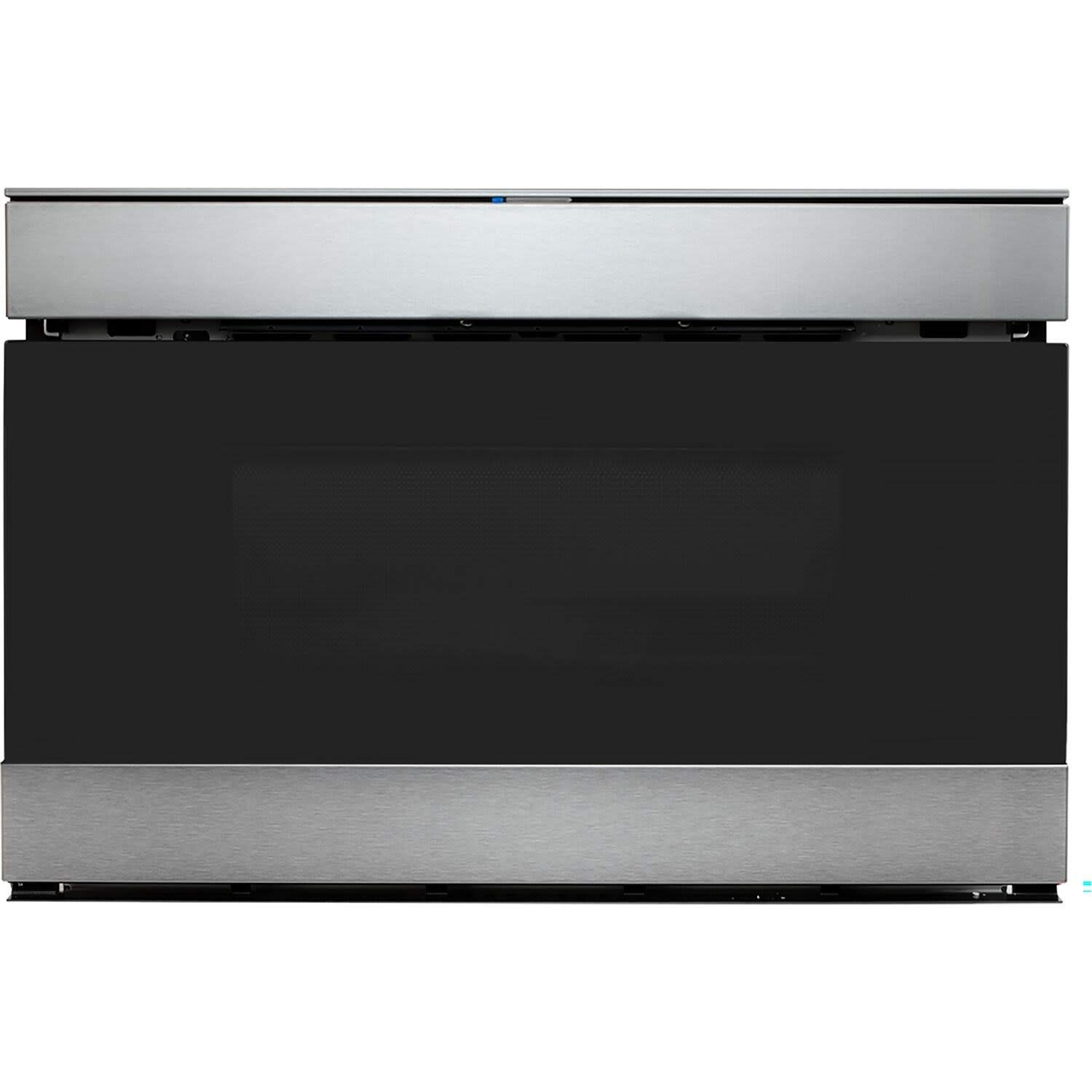 """Sharp SMD2489ES 24"""" loT Microwave Drawer with 1.2 cu. ft. Capacity, 950 Watts, 11 Power Levels, Edge-to-Edge Black Glass, in Stainless Steel"""