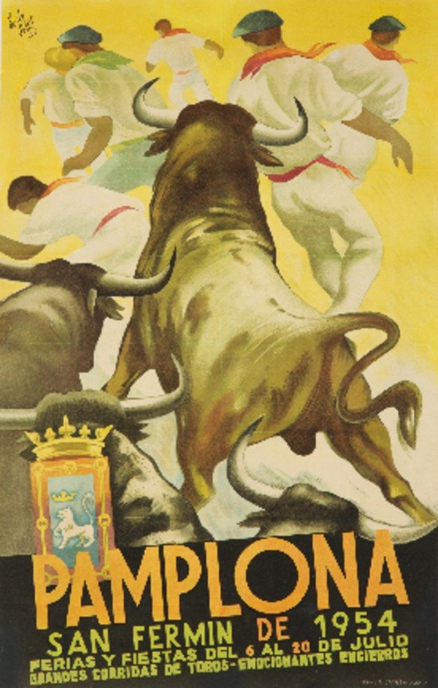 Pamplonaヴィンテージポスター(アーティスト: Sotes )スペインC。1954 12 x 18 Art Print LANT-60664-12x18 B017Z7DDYA 12 x 18 Art Print12 x 18 Art Print