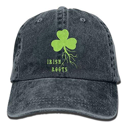 Buyiyang-01 Men Women Irish Shamrock Roots Cotton Denim Baseball Hat Adjustable Trucker Cap Irish Santa Hat