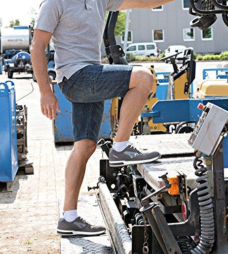 Sicherheitsschuhe S1P SRC Jogger Grau - - Schuhe En ISO 20345 S1P für Innenbereiche Geeignet - Arbeitsschuhe mit Durchtrittschutz - Gr. 40
