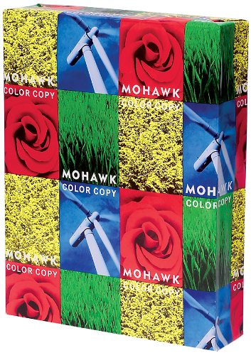 Mohawk Color Copy Gloss Paper 96-Bright Pure White Shade, 32 lb 8.5 x 11 Inches 500 Sheets/Ream - Sold as 1 Ream (36-201)