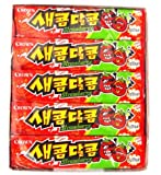 Korean Sweet and Sour Assorted Flavored Chewy Candy (15pack) (strawberry)