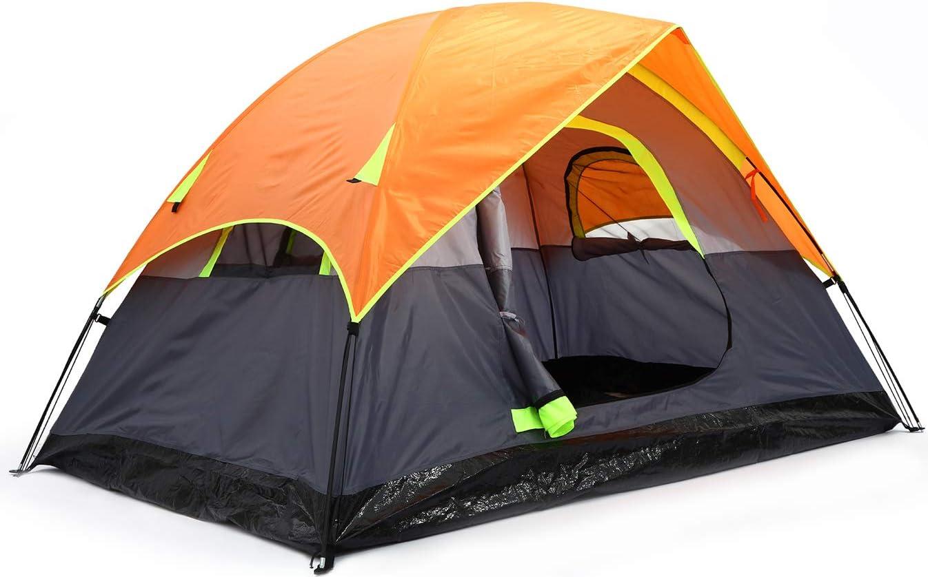 para senderismo plegable campamento escalada port/átil 3 personas para 1 impermeable Kidodo Tienda de campa/ña