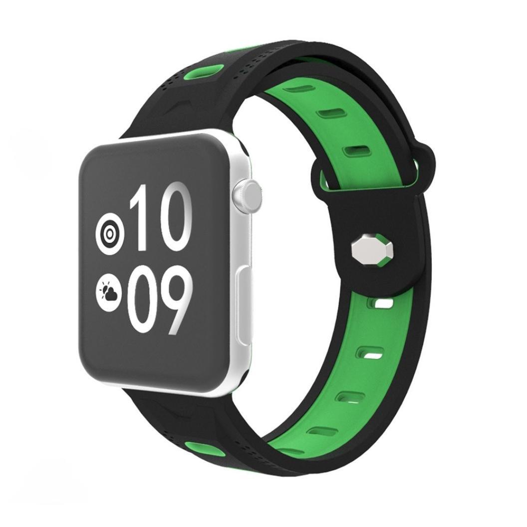 kanzdレディースメンズファッションスポーツシリコンブレスレットストラップBand for Apple Watchシリーズ1 / 2 / 3 38 mm 42mm D D B0784HXXCQ