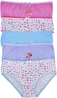 Lora Dora Girls 5 Pack Pares Calzoncillos Set Braguitas Infantil Multipack 100% Ropa Interior de