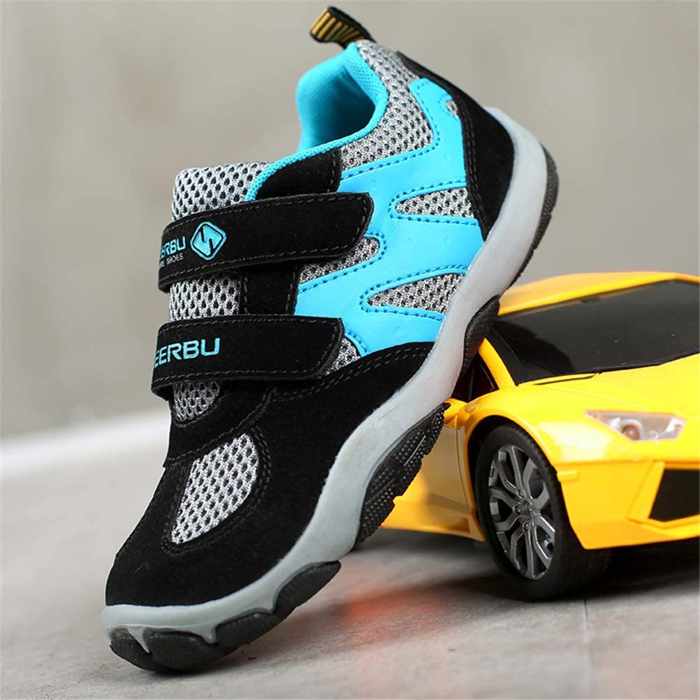 WXLONG Kids Athletic Strap Breathable Running Shoes Casual Sneakers