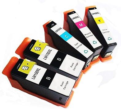 Myriad Compatible Inkjet Cartridges S415 etc; Yellow Ink Replacement for Lexmark 14N1618 S515 150XL; Models: S315 12 Inkjet Cartridges Bulk: R14N1618