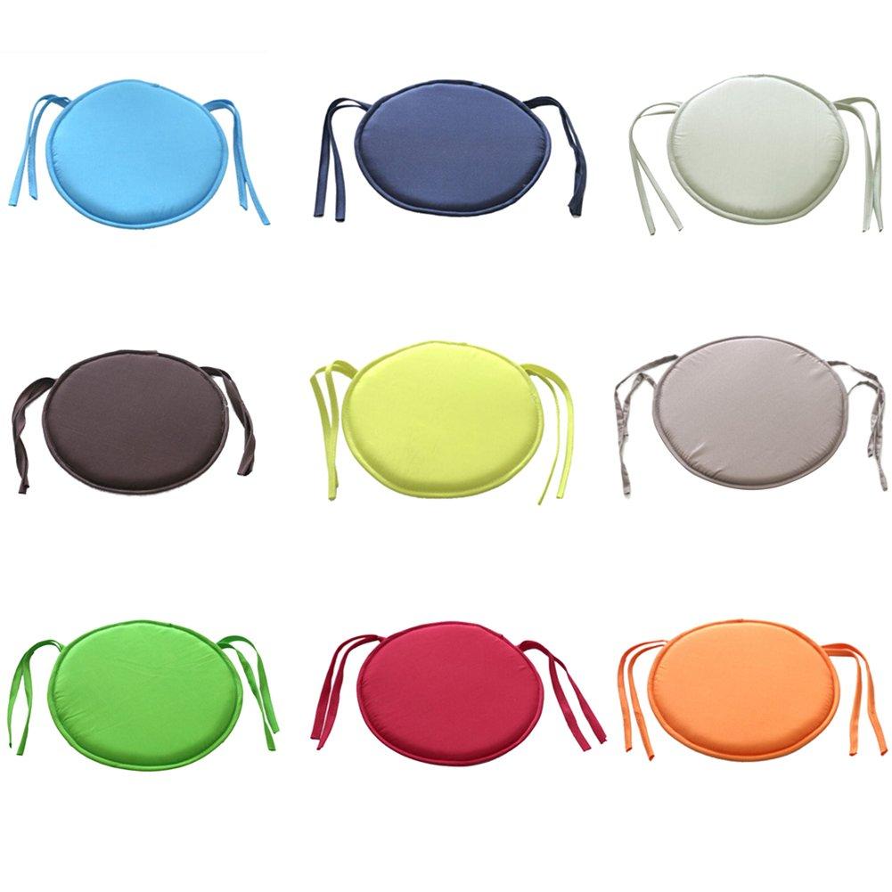 UxradG Morbido Cuscini di Rotondo Cravatta su Cuscinetti per casa Ufficio Decorazione Resistente all Acqua da Giardino Cuscini per sedie Taglia Libera Yellow