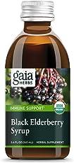Gaia Herbs Black Elderberry Syrup - Daily Immune Support with Antioxidants, Organic Sambucus Elderberry Supplement, 5.4 Fl Oz