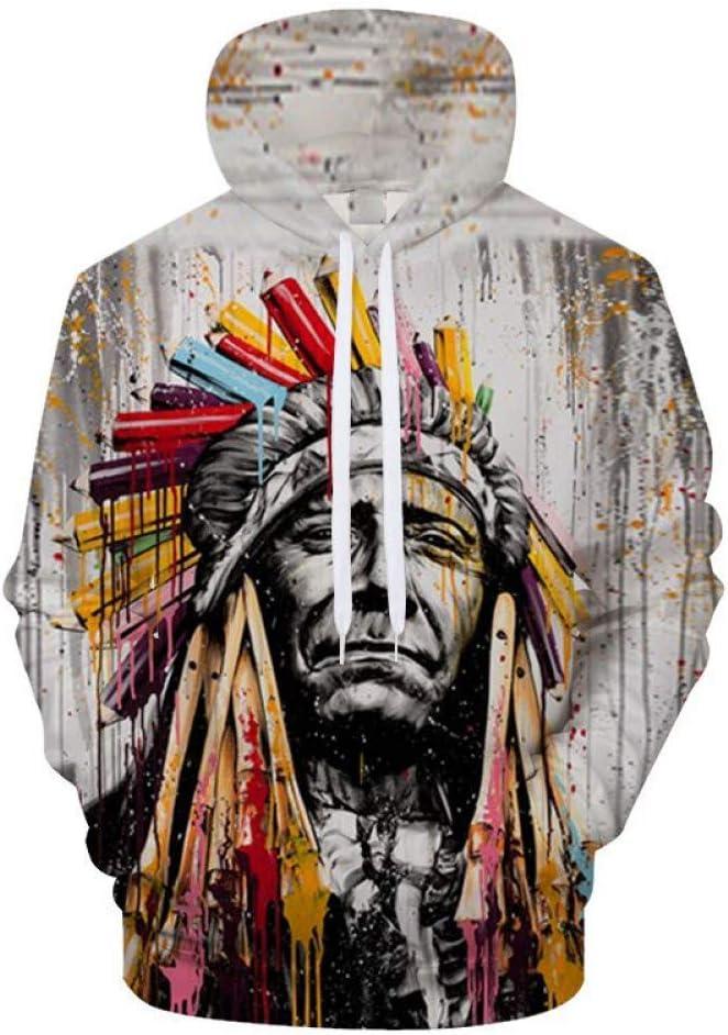 XIN Sweatshirts 3D-Druck Hooded Trainingsanzug Pullover Casual Männer Frauen Langarm-Shirts Streatwear,M * L