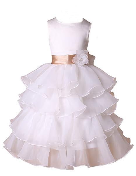 GRACE KARIN Vestido para niñas, color blanco, talla 42160