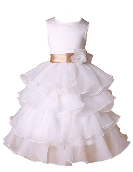 GRACE KARIN - Vestido para niñas, Color Blanco, Talla 42160