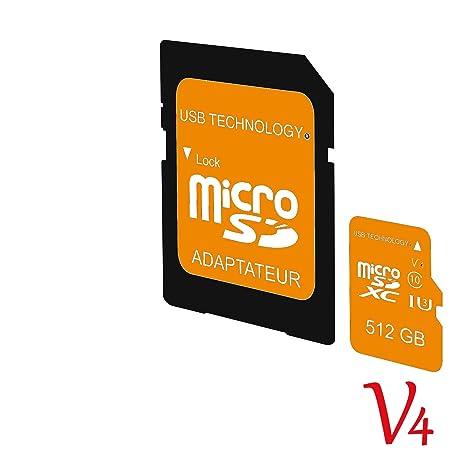 Tarjeta de Memoria Micro SD de 512 GB, V4, ultrarápida, con ...