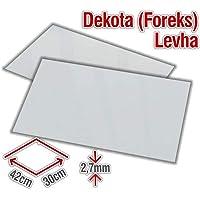 30x42 mm Beyaz Dekota, Foreks 2,7 mm Kalınlık 10 Adet Fiyatı