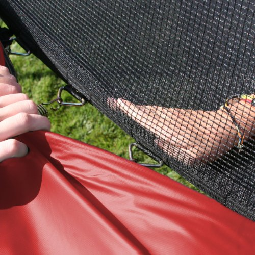 Skywalker 12-Feet Round Trampoline with Enclosure, Red by Skywalker Trampolines (Image #3)
