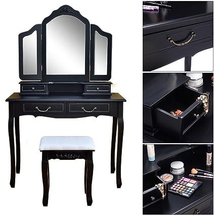 Black Makeup Table | Saubhaya Makeup