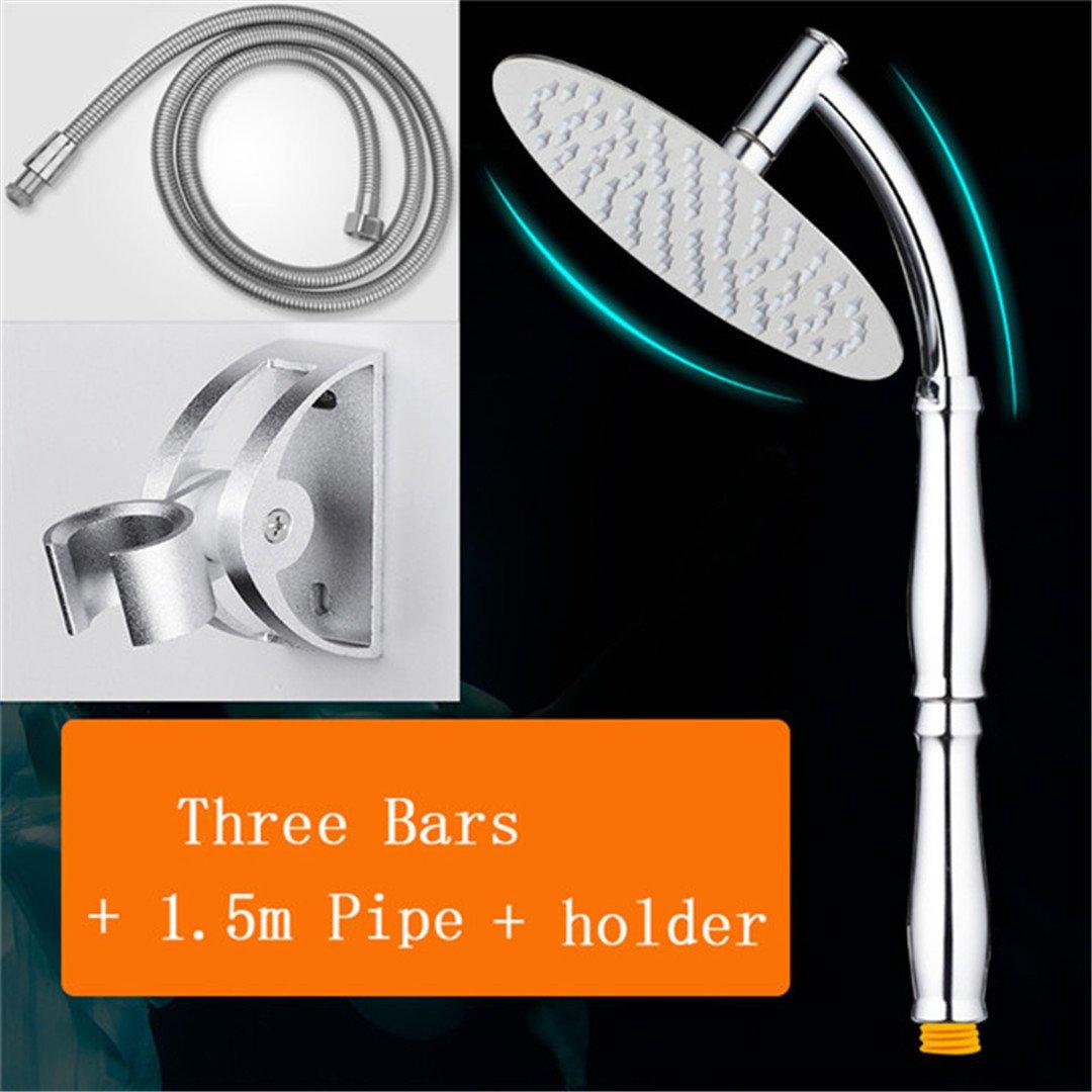 Steel Bathroom Shower Head Overhead Rainshower Duchas Regendouche Kop Adjustable Rain Shower Arm Handheld Chuveir Shower Heads 3 Bars set2