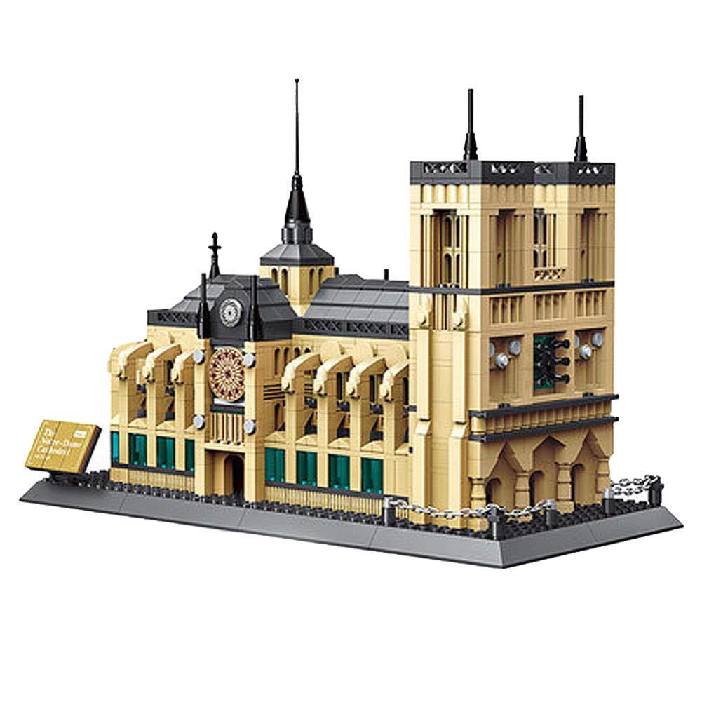 HJRHH-R World Famous Architecture Notre-Dame Cathedral of Paris Building Blocks 1380Pcs Bricks DIY Educational Kids Toys No.5210