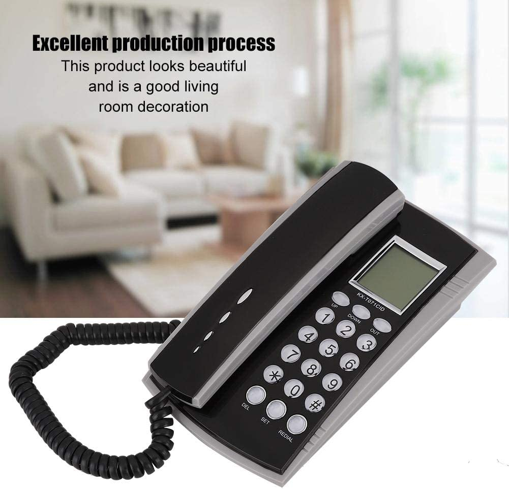 Tosuny Corded Telephone Small Home Phone Landline Telephone with ...