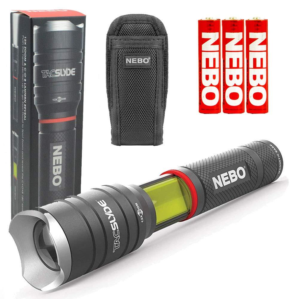 NEBO 6746 Tac Slyde 300 Lumen LED Flashlight/Work Light Bundle with Nebo 6274 Holster