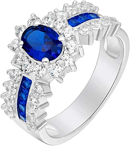 Sparkle chic 18K White Gold Filled Ring White Sapphire Wedding Jewelry Size 7,8