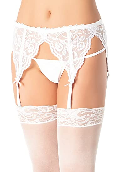 d66bac38d18 Amazon.com  Coquette Women s Lace Garter Belt  Clothing