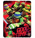 "The Northwest Nickelodeon Teenage Mutant Ninja Turtles Good Times Printed Fleece Throw 46"" x 60"""