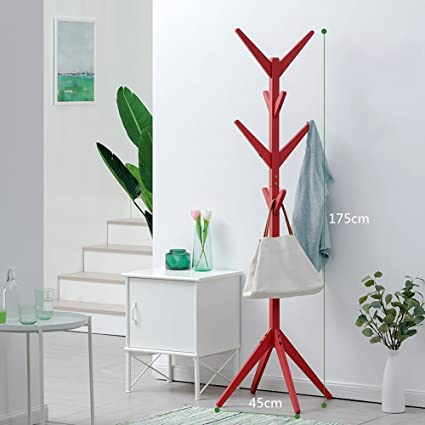 Amazon.com: Teng Peng Coat Rack - - Solid Wood Simple Floor ...