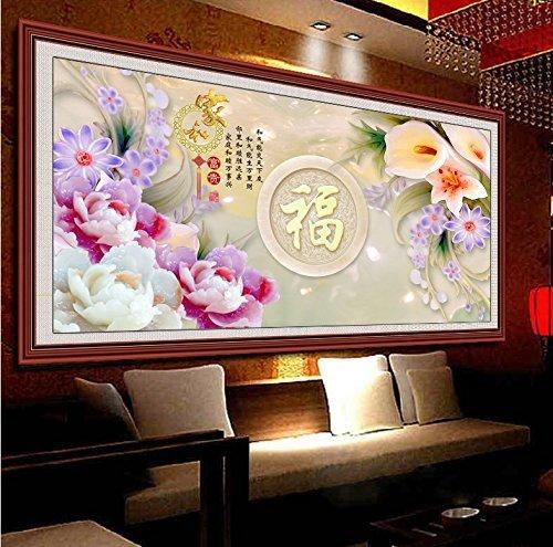 クロスステッチ、フー、花、中国スタイル、C0151 B01N5RN865