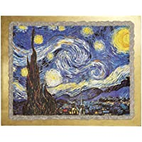 Ars Martos Reproduction Art Starry Night Fresco on Plaster Width 40 cm Height 30 cm