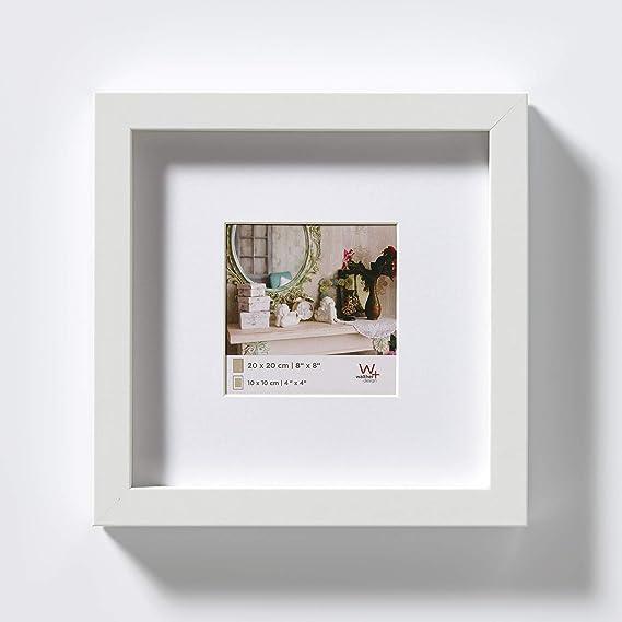 walther design Stockholm 3D Holzrahmen 20x20 cm weiß