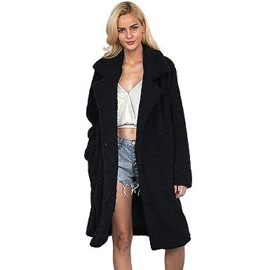 ca5cf5dbb14f Femme Manteau Long Hiver Chaud Fourrure Rembourrée Veste Chic et à la Mode  Grande Taille (
