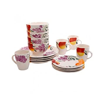 Fruit Garden 16 Piece Dinnerware Set by Gibson  sc 1 st  Amazon.com & Amazon.com: Fruit Garden 16 Piece Dinnerware Set by Gibson: Home ...
