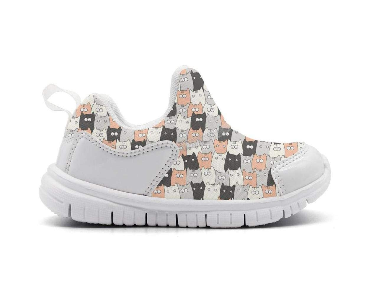 ONEYUAN Children Cute Cartoon cat Party Print Kid Casual Lightweight Sport Shoes Sneakers Walking Athletic Shoes