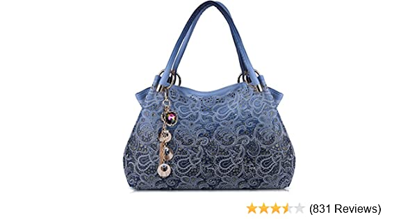 Amazon.com  Tinksky Classic Fashion Tote Handbag Leather Shoulder Bag  Perfect Large Tote Ls1193 (blue)  Shoes 0a166f0d4120c