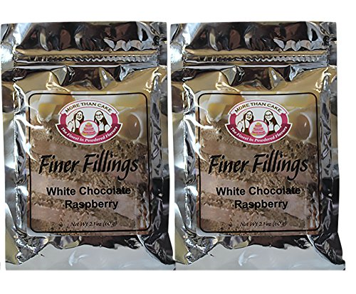 White Chocolate Buttercream Frosting (White Chocolate Raspberry Finer Fillings 60g Dessert Mix by More Than Cake, 2 Pack)