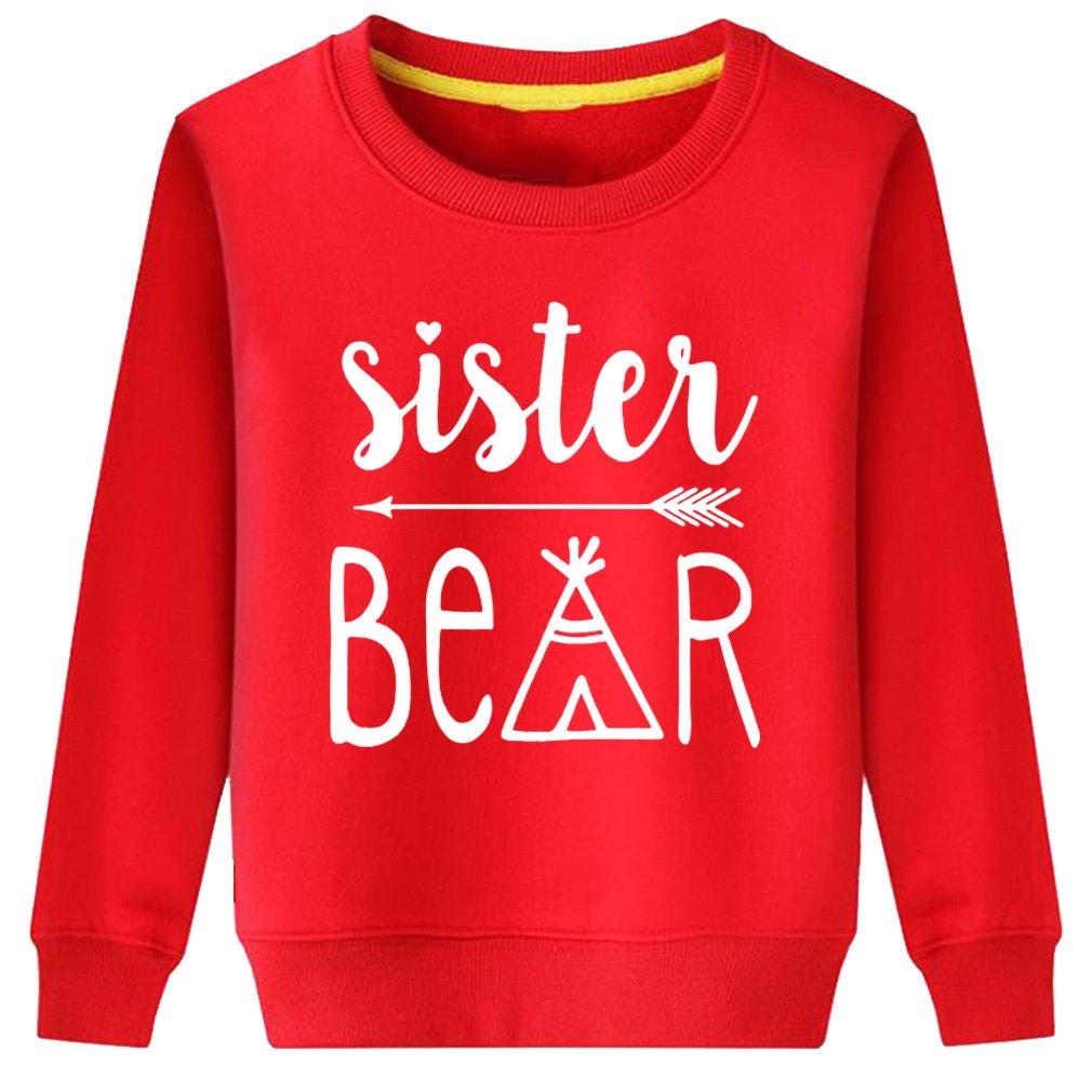 Rui-En Kids Sister Bear Cub Family Sweatshirt