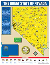 Gallopade Publishing Group Nevada State Map for Students - Pack of 30 (9780635106551)