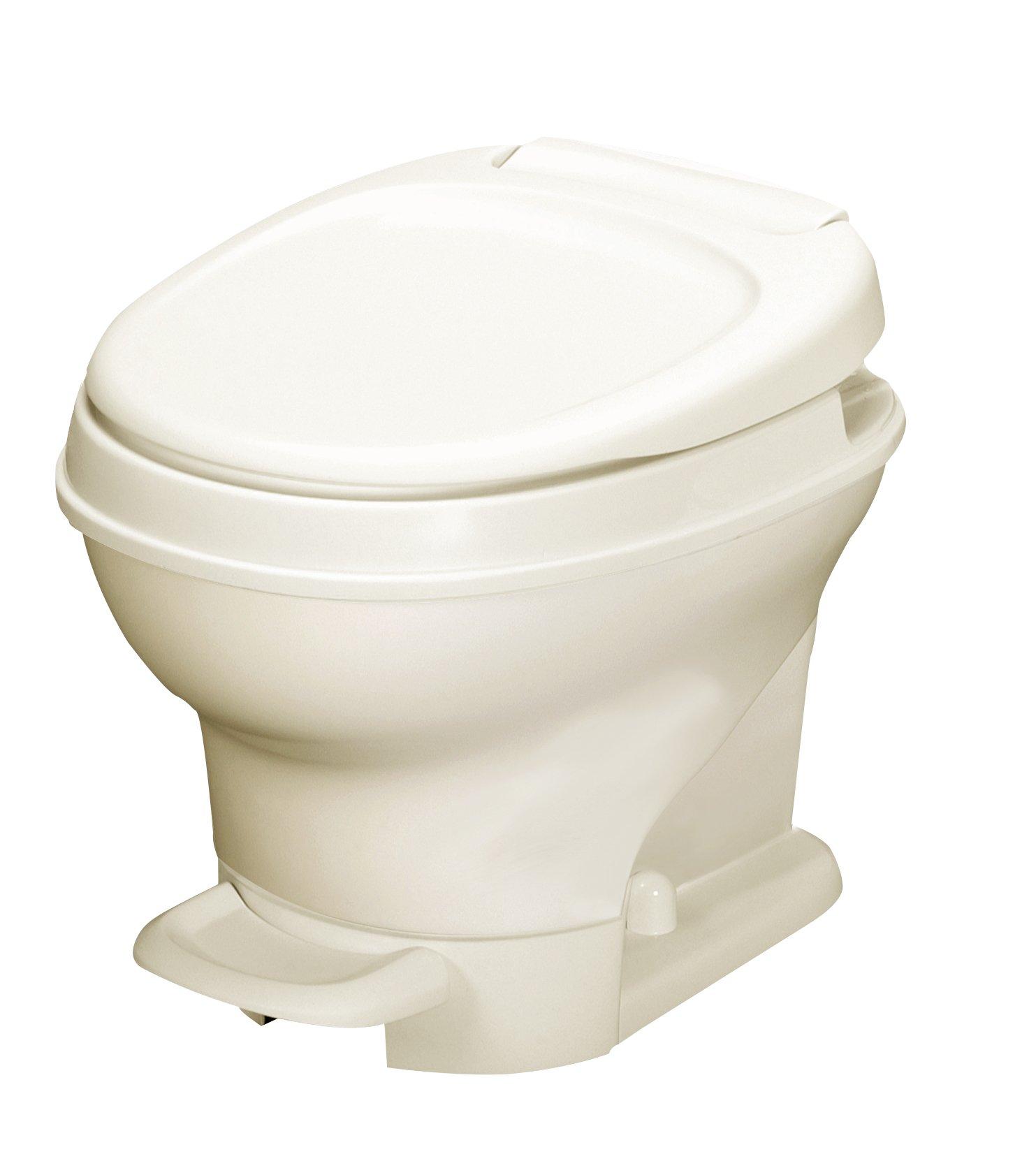 Thetford 31651 Parchment Aqua Magic V RV Toilet Pedal Flush-Low Profile-White Color-Thetford-31650 by Thetford (Image #3)