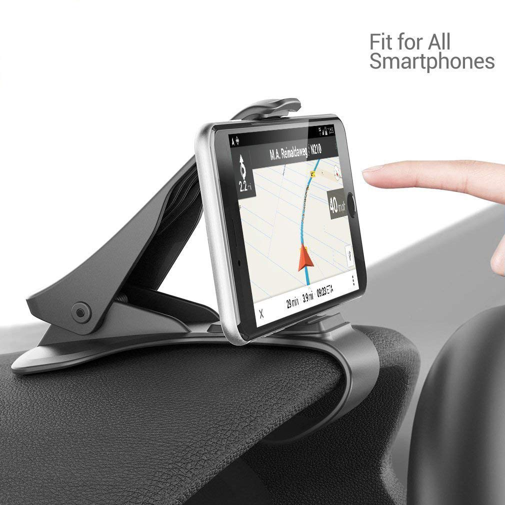 Siikii Supporto per Auto Supporto Universale per cruscotto per Auto Design HUD Supporto per Telefono Cellulare Antiscivolo Supporto per Telefono Cellulare Culla per iOS Android (nero-28)