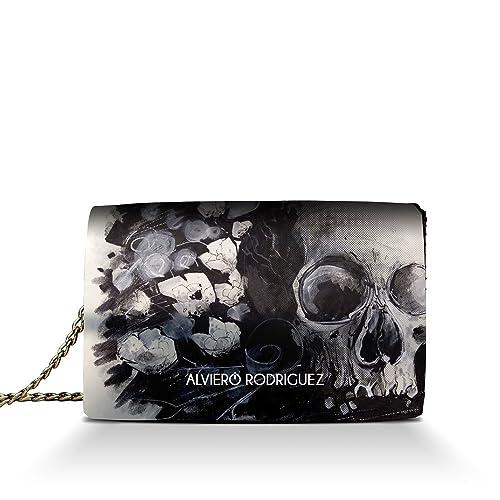 Teschio Borsa Donna Floreal In Rodriguez Floreale Skull Alviero Art qXgwa7x