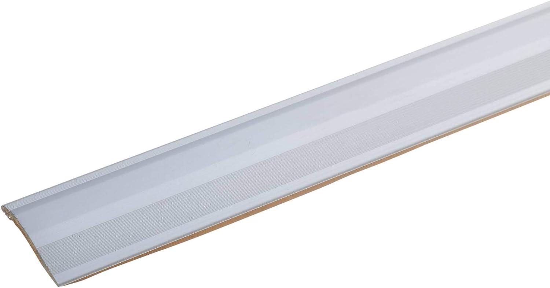 autoadhesivo list/ón de transici/ón perfil para suelo perfil de transici/ón para laminado parquet y moqueta acerto 51086 Perfil de ajuste de altura de aluminio 135cm bronce claro 2-16mm