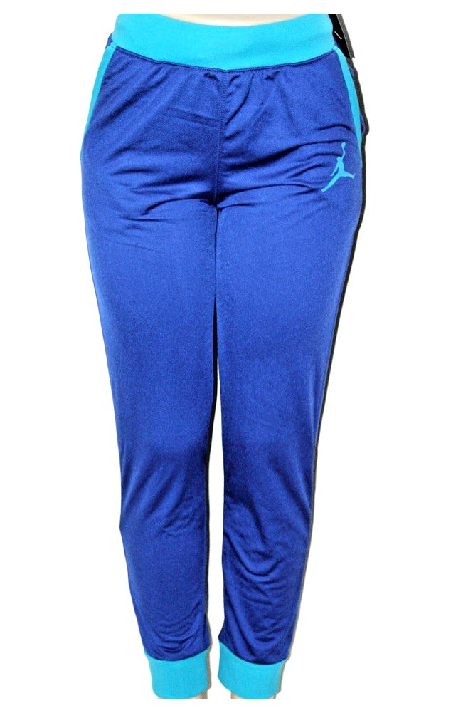 NIKE Air Jordan Girls Athletic Track Pants - Royal Blue (Large (12-13))