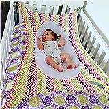 Colorfulworld Safety Baby Crib Hammock Hanging Wavy Stripe Detachable Portable Newborn Baby Sleeping Nursery Beds Cradles