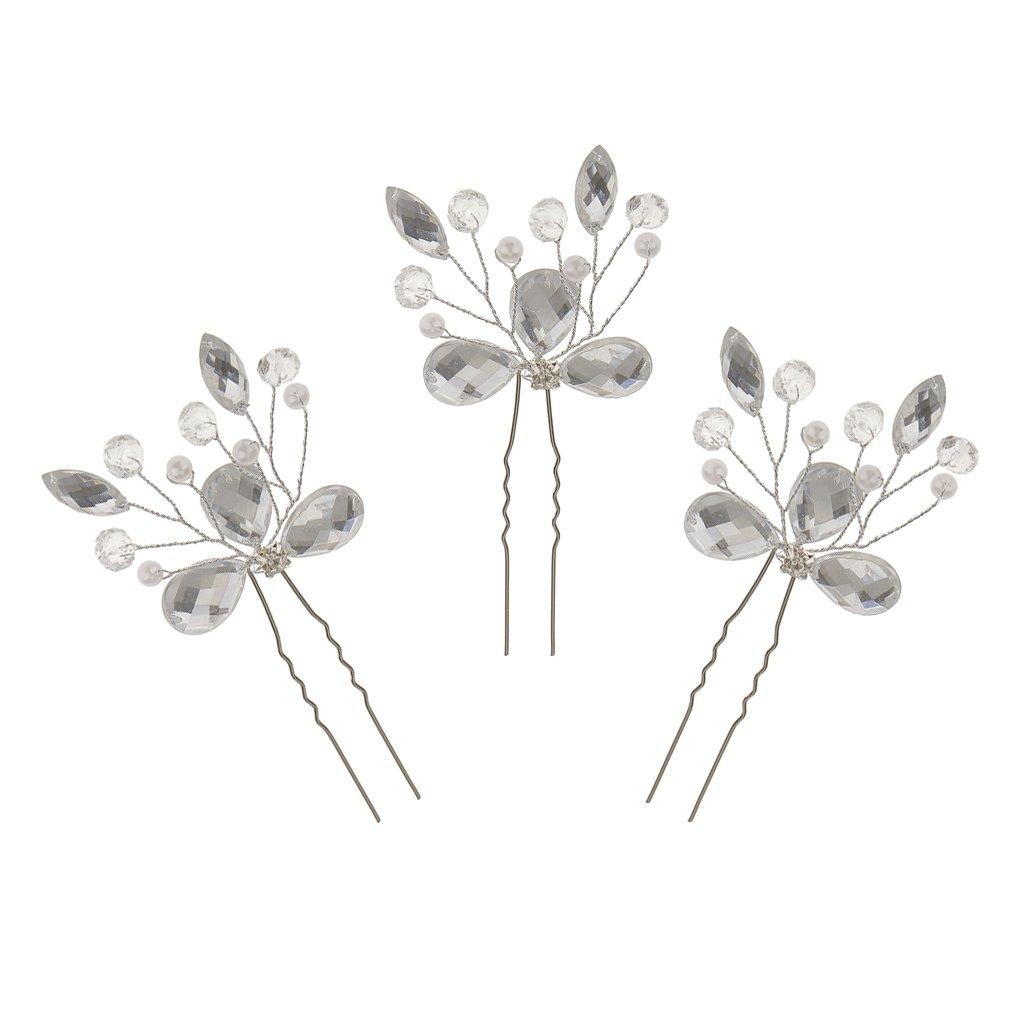 Generic 3pcs Wedding Bridal Headwear Hair Stick Hair Pin Vintage Hair Accessories STK0156011125
