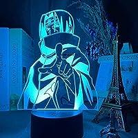 Lâmpada 3D Nightlight Uchiha Itachi Anime Naruto Uzumaki USB LED Team 7 Sasuke Kakashi Quarto infantil Nightlight Itachi