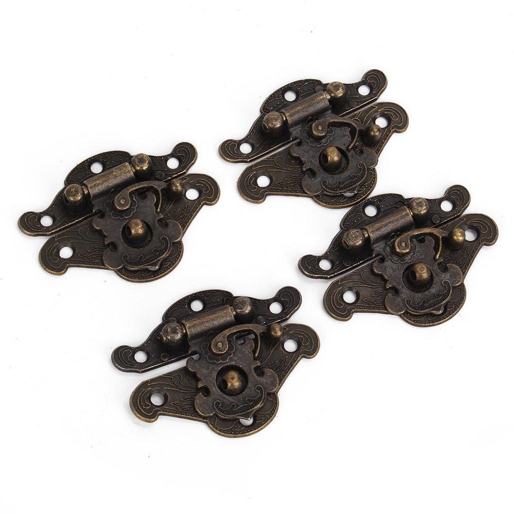 BQLZR Dekorative Bronze Legierung Vorhä ngeschloss Schließ e S Grö ß e Jewelry Box Packung von 4 BQLZRN13062