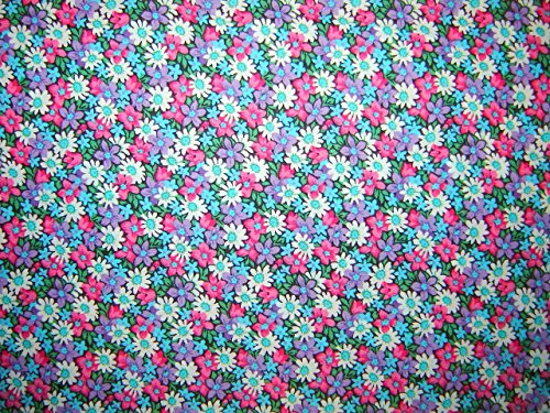 (Calico Packed Daisies Fabric by the Yard)