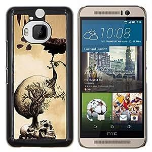 LECELL--Funda protectora / Cubierta / Piel For HTC One M9Plus M9+ M9 Plus -- Skulls cerebro Dibujo Roots Arte --